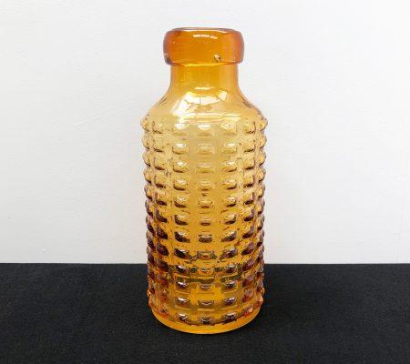 1960s Amber Glass Vase