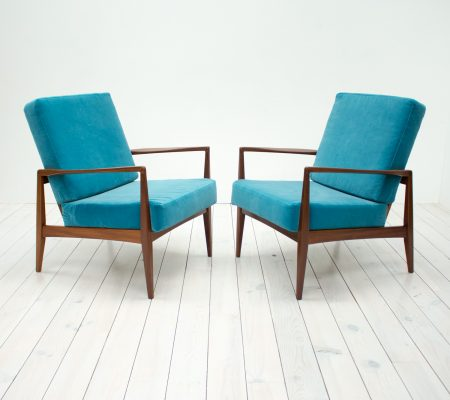 1960s Pair of Afromosia Armchairs