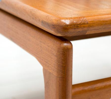 Danish Teak Square Coffee Table by Trioh