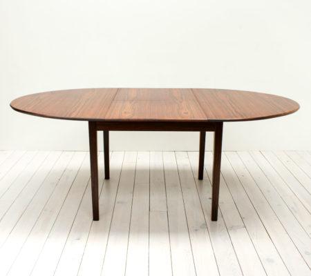 Danish Rosewood Extending Dining Table by Bordum & Nielsen