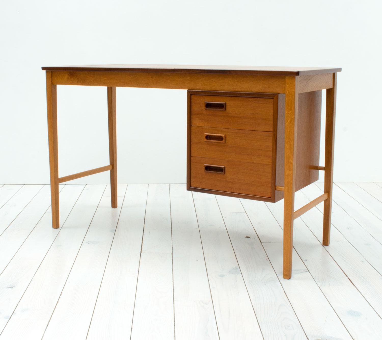 Danish Teak & Oak Dressing Table/Desk by Svend Åge Madsen