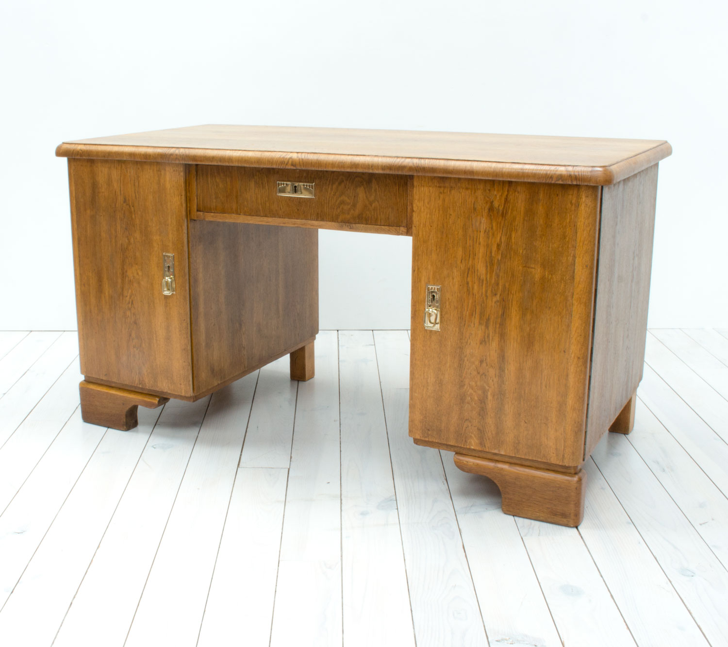 German Art Nouveau Oak Desk