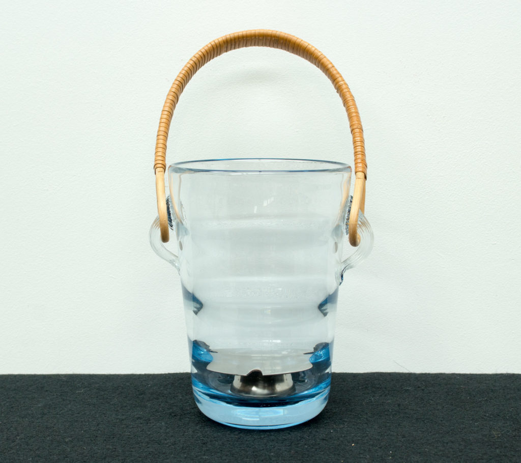 Glass Ice Bucket by Per Lütken for Holmegaard