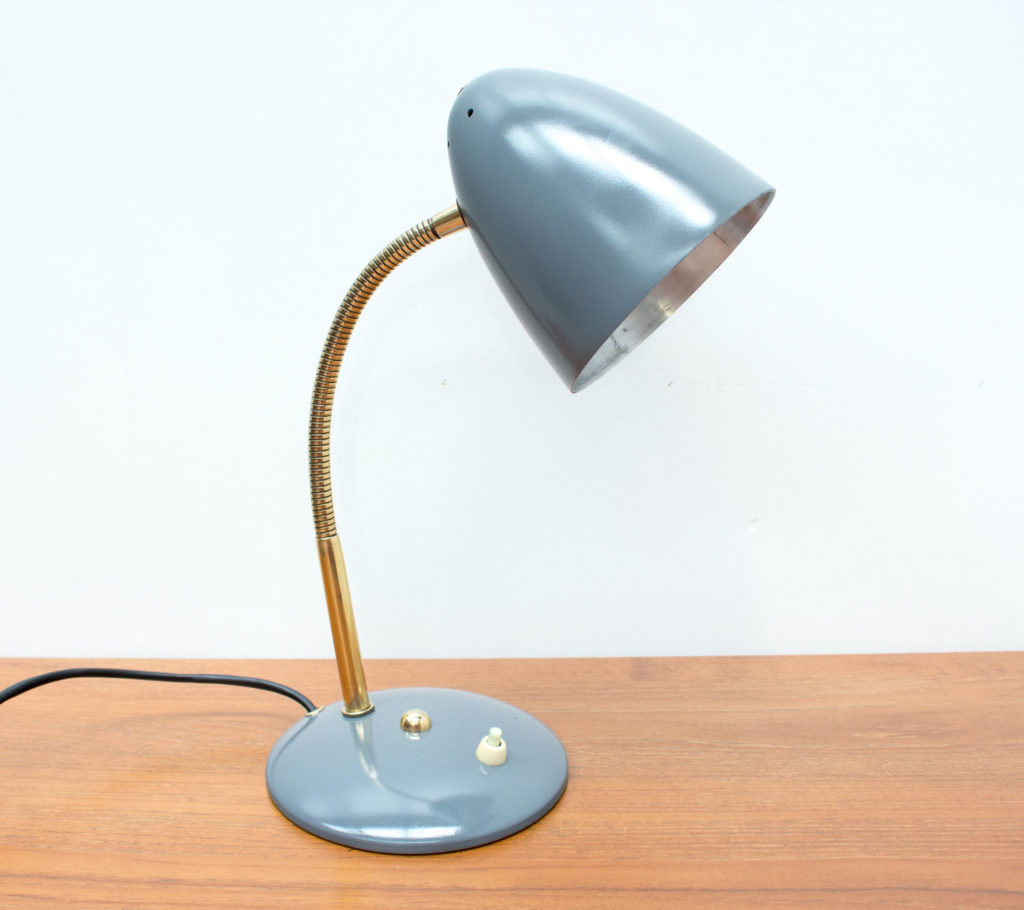 German Grey Desk Lamp by Helo Leuchten