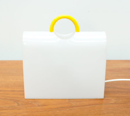 Perspex Suitcase Table Lamp by Shiu Kay Kan, 1980s
