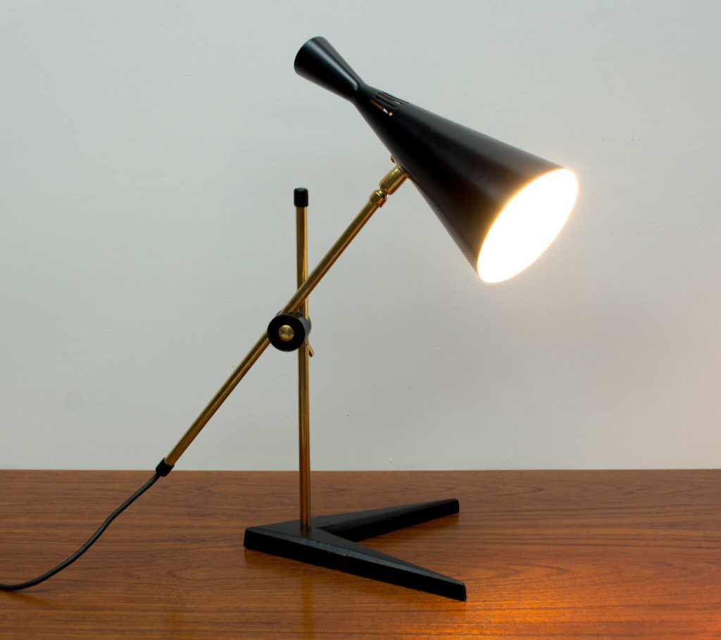 G A Scott Black Desk Lamp by Maclamp