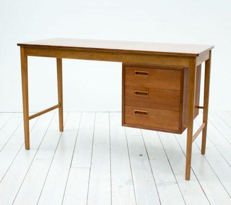 Danish Teak & Oak Dressing Table/Desk by Svend Aage Madsen