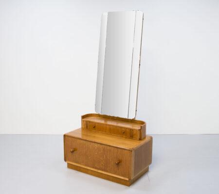 Art Deco Utility Oak Cheval/Hall Stand