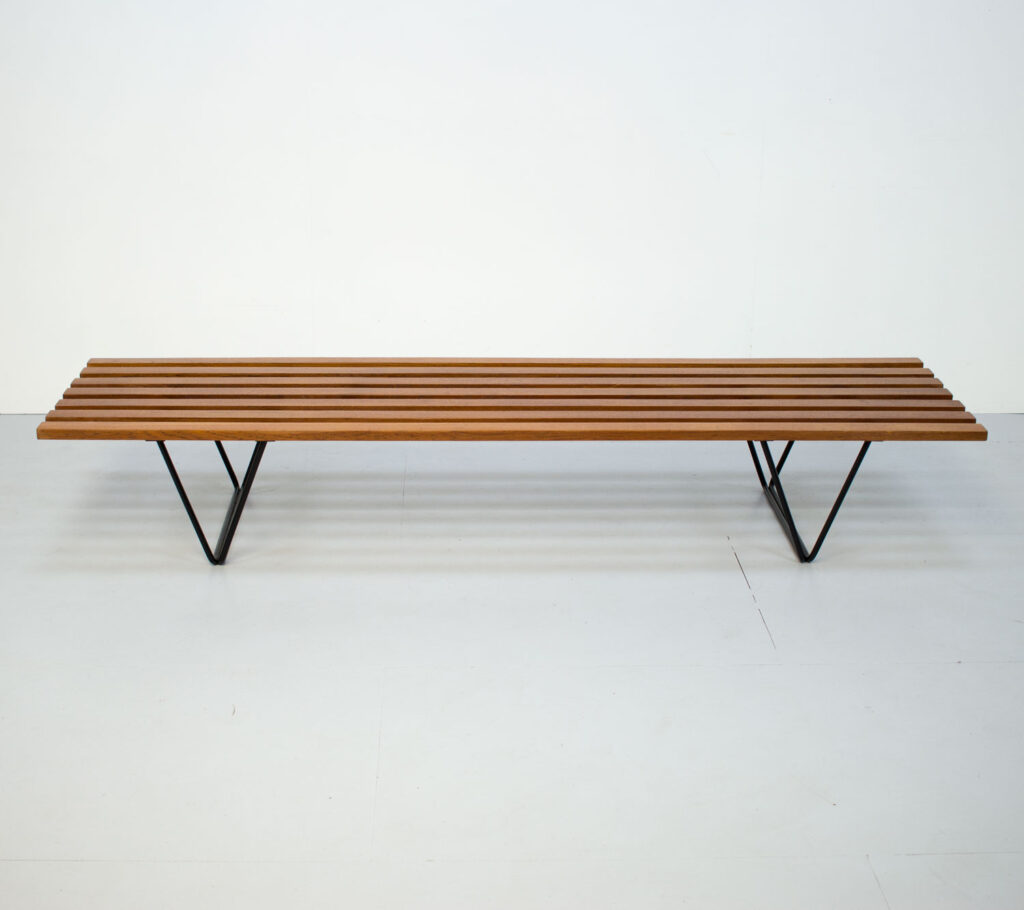1950s Slatted Bench by Robin Day for Hille