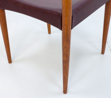 Danish Teak & Leather Model 175 Dining Chairs by Mogens Kold