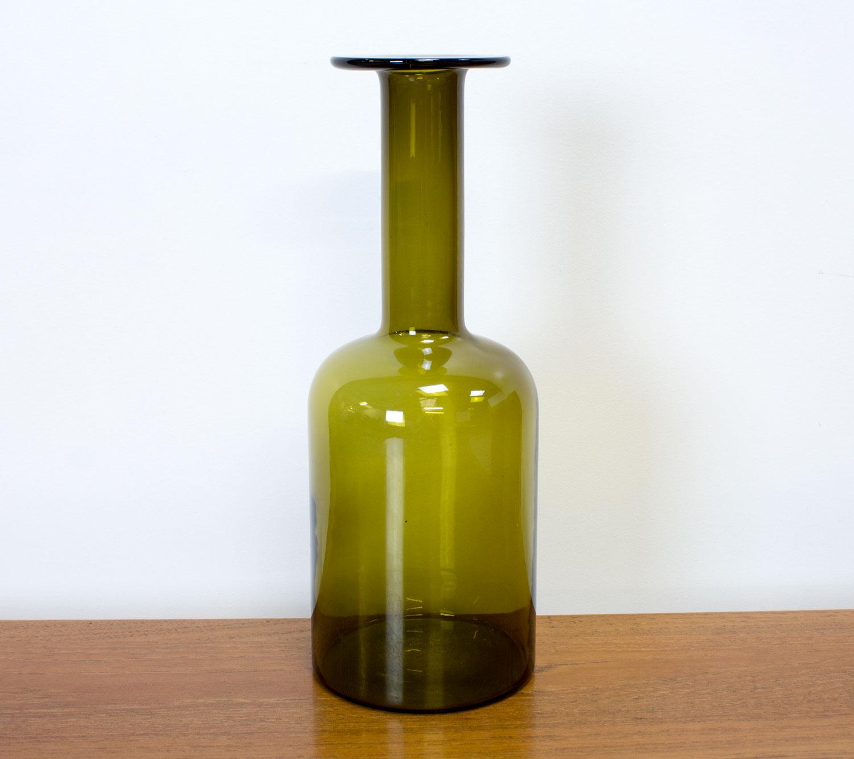 Danish Green Gulvvase by Otto Brauer for by Holmegaard