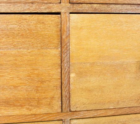 Art Deco Heals Style Limed Oak Tallboy