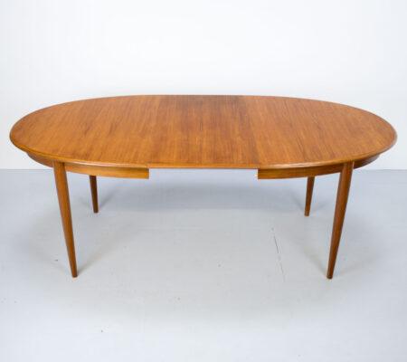 Danish Teak Oval Extending Dining Table by Gudme Möbelfabriken