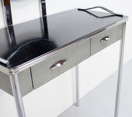 Art Deco American Royal Chrome Dressing Table by Royal Metal Manufacturing Co.