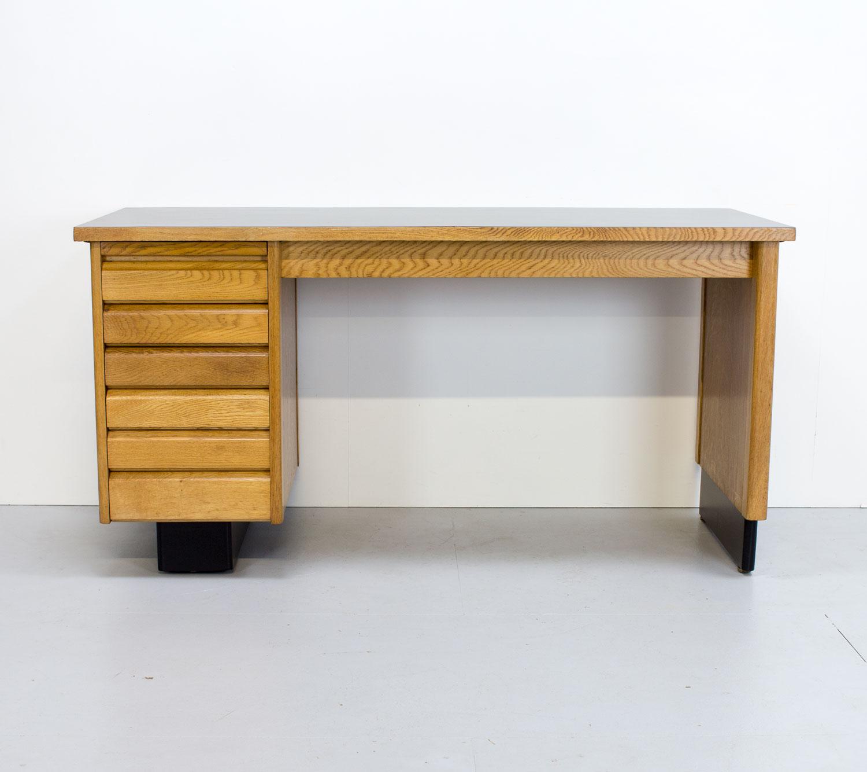 English Art Deco Oak Desk