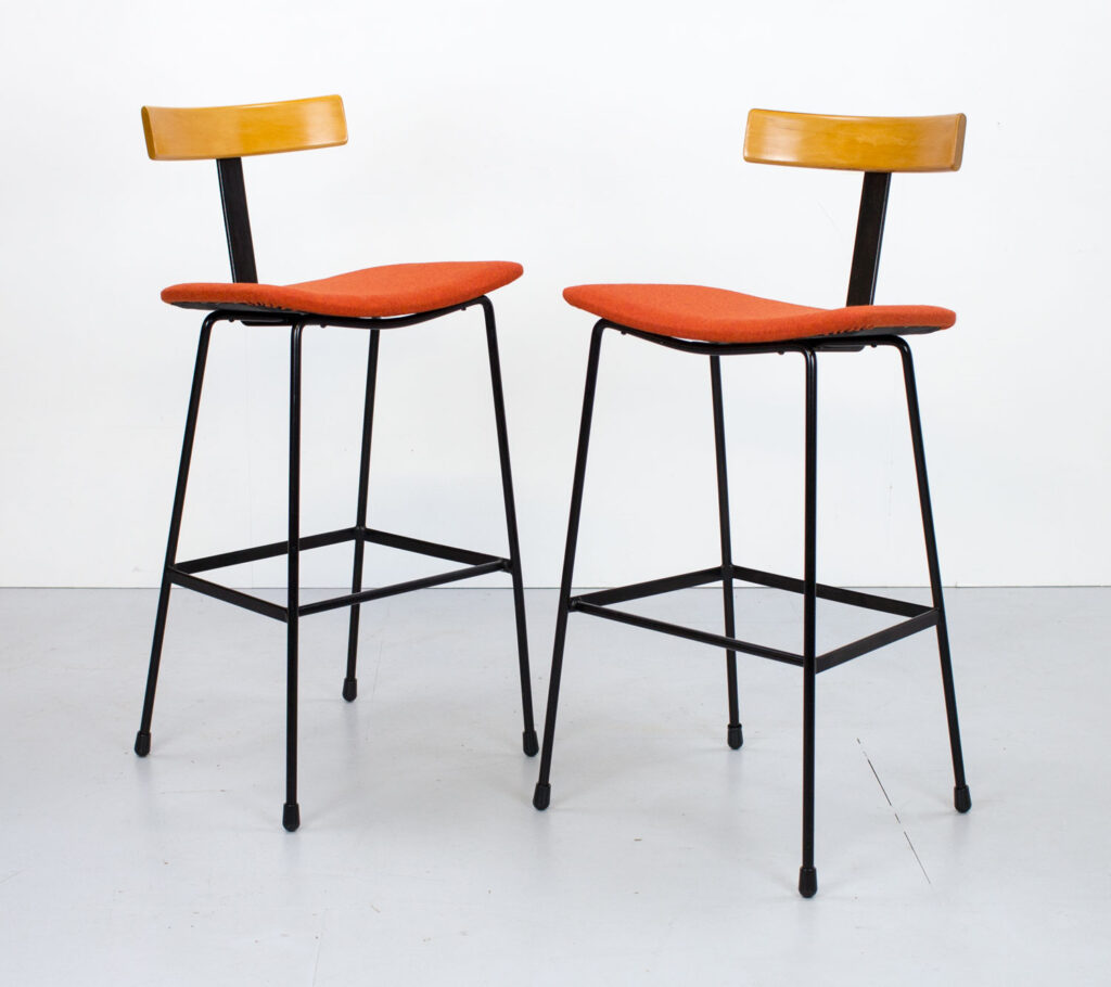 1950s Pair of Kandya Program Bar Stools