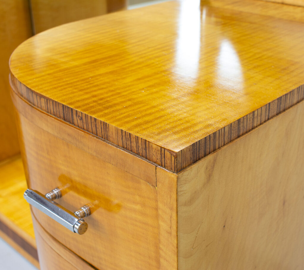Art Deco Sycamore Dressing Table