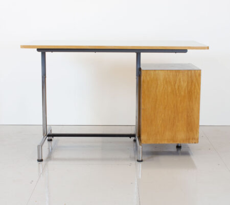1960s Italian Style Formica and Maple Desk