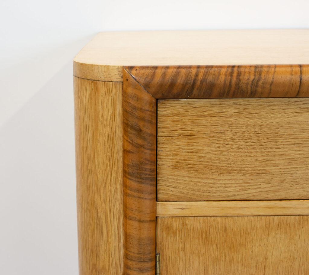 Art Deco Walnut & Oak Sideboard