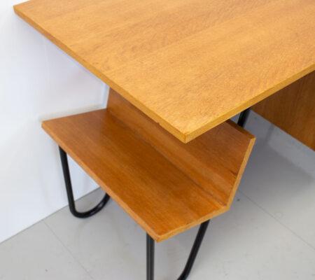 1950s French Oak Desk by Spirol